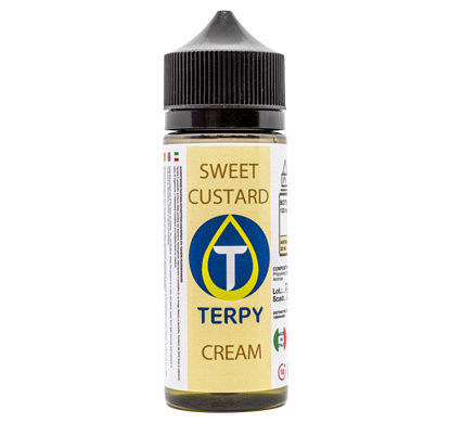 Flacon de 120ml liquides cigarette electronique gourmand Sweet Custard