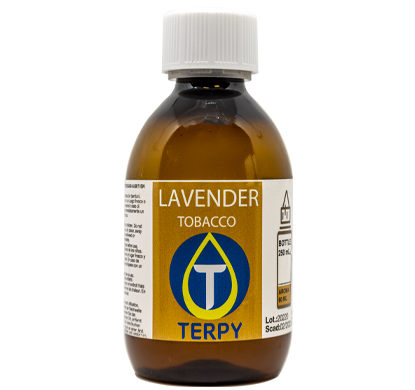 Bouteille de 250ml liquides cigarette electronique tabac Lavender