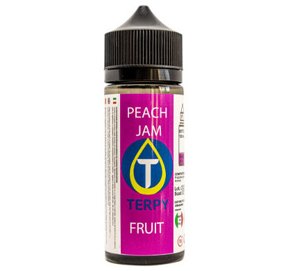 Flacon de 120ml liquides cigarette electronique fruite Peach Jam