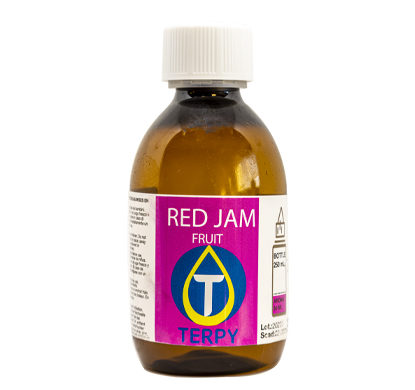 Bouteille de 250ml liquides cigarette electronique fruite Red Jam