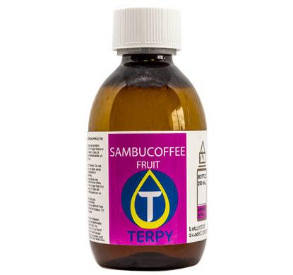 Bouteille de 250ml liquides cigarette electronique fruite Sambucoffee