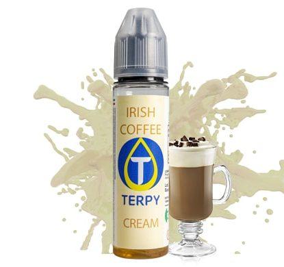 bouteille de liquide gourmand au goût de irish coffee sans nicotine