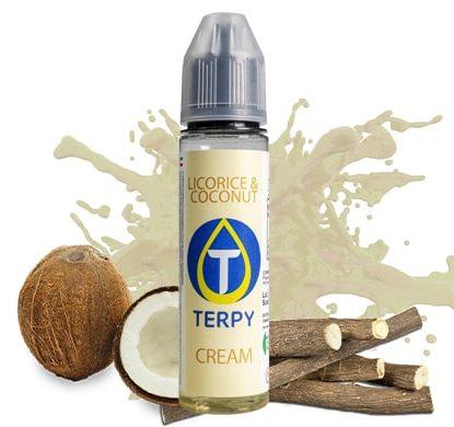 flacon de liquide au gout de licorice&coconut pour cigarette electronique