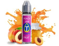 Bouteille de e-liquide pour cigarette electronique peach jam goût pêche