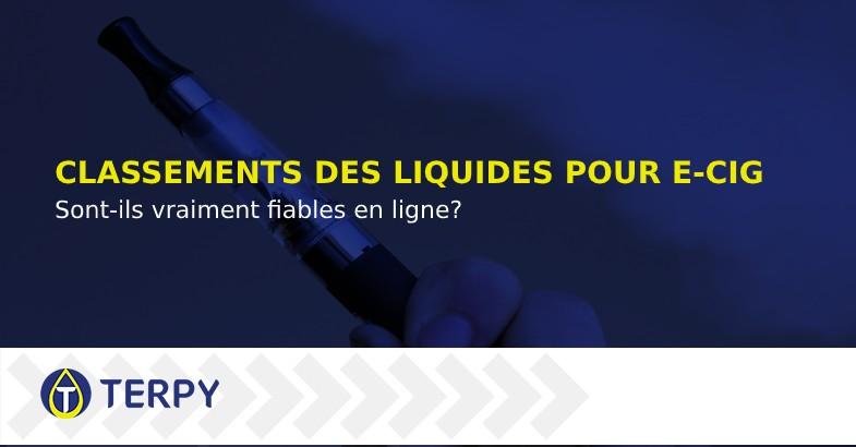 Classements des liquides pour cigarettes électroniques