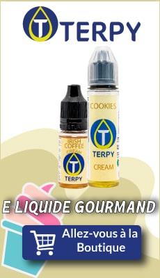 Bannière Terpy e liquide gourmand pour cigarette electronique