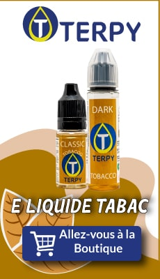 Bannière Terpy e liquide tabac pour cigarette electronique