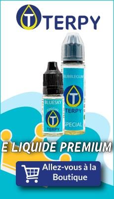 Bannière Terpy e liquide premium pour cigarette electronique