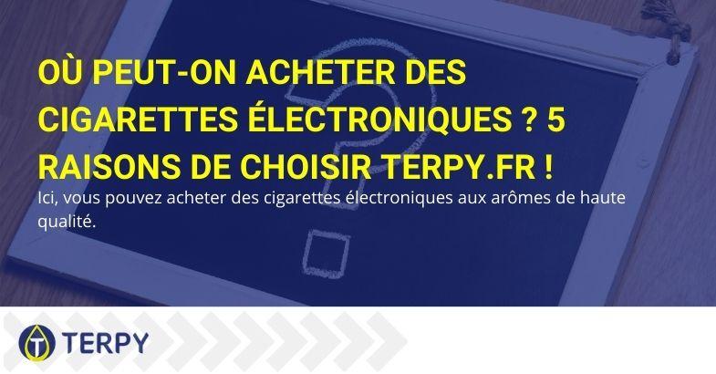 Où peut-on acheter des cigarettes électroniques ? 5 raisons de choisir Terpy.fr !