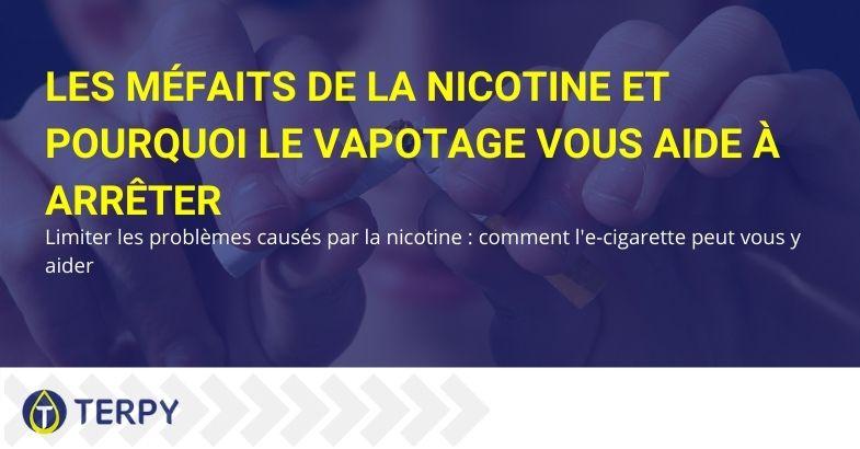 Parce que la cigarette électronique permet de limiter les dommages de la nicotine