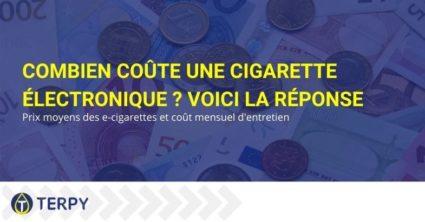Prix moyens et coût mensuel d'une cigarette électronique.