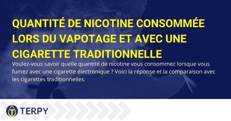 Quelle est la consommation de nicotine avec la cigarette électronique et avec la traditionnelle ?